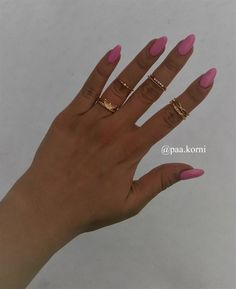 pink nails #nailart #hybridnail #semilac SEMILAC 003 Pink Nails, Nailart, Jewelry, Jewlery, Jewerly, Schmuck, Pink Nail, Jewels, Jewelery