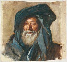 Old Man with Dark Turban   John Singer Sargent -- American painter  c 1890-91  Fogg Art Museum, Boston
