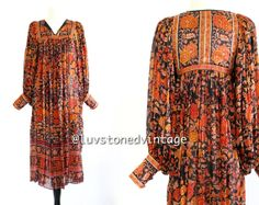70s Vintage Ritu Kumar Judith Ann Indian Silk by LuvStonedVintage, $375.00