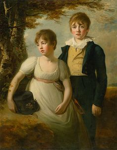 Portrait of a girl and a boy by Henry Raeburn, 1800/1810. Slovak national gallery, CC BY