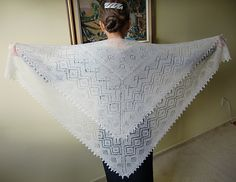Ravelry: Royal lace baby shawl pattern by Russian Lily