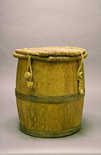 Bomba Drum  This is a miniature version of the barril de bomba, the kind of drum used in performances of the Afro-Puerto Rican musical tradition known as bomba. While bomba can be used as the generic name for a number of rhythms, its real meaning is about the encounter and creative relationship between dancers, percussionists, and singers.