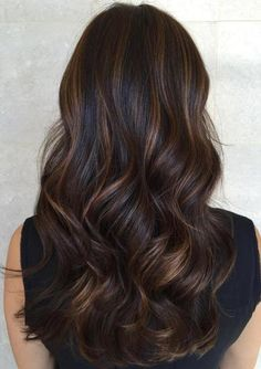 Balayage and ombre hair. Hair Color Ideas & Trends for Stylish and attractive. Balayage and ombre hair. Hair Color Ideas & Trends for Stylish and attractive. Brunette Hair Color With Highlights, Brown Hair Balayage, Hair Color Balayage, Hair Highlights, Ombre Hair, Subtle Highlights, Dark Hair With Caramel Highlights, Subtle Balayage Brunette, Chocolate Highlights