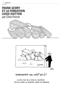 #drawing #architecture #gehry #fondation #louisvuitton #comic #humour #cartoon #illustration #satire #artpress