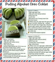 Puding Pudding Desserts, Pudding Recipes, Baking Recipes, Snack Recipes, Dessert Recipes, Puding Oreo, Yummy Snacks, Healthy Snacks, Malaysian Dessert