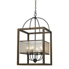 Cal Lighting Mission 6 Light Candle Chandelier & Reviews | Wayfair