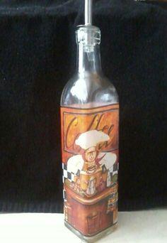 Glass Chef olive oil  bottle / dispenser