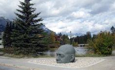 Great shot of the famous Canmore Head in Canmore, Alberta, Canada #Canmore