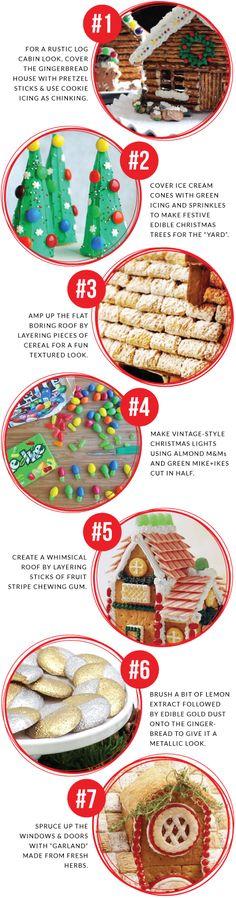 7 Gingerbread House Decorating Tips and Tricks Christmas Goodies, Christmas Treats, Christmas Baking, Holiday Treats, Holiday Recipes, Christmas Time, Xmas, Gingerbread House Parties, Gingerbread Village