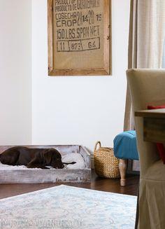 Dog Bed Tutorial via My Frugal Adventures