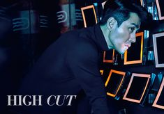 A clean shaven Cha Seung Won is the cover boy of the next issue of High Cut, and he headed to Shanghai, China for his shoot. Cha Seung Won, Clean Shaven, Slicked Back Hair, Sad Eyes, Dapper Gentleman, Korean Entertainment, Cover Model, High Cut, The Struts