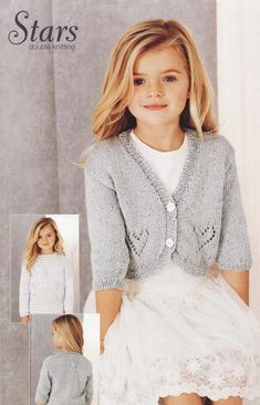 Deramores stocks a huge range of cardigan knitting patterns for men, women and children. Find cardigan knitting patterns for all kinds of fibres in all kinds of styles! Bolero Pattern, Kids Knitting Patterns, Knit Cardigan Pattern, Baby Cardigan Knitting Pattern, Knitting For Kids, Free Knitting, Girls Sweaters, Baby Sweaters, Pulls