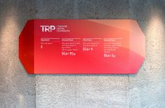 Signage and way finding for Theatre Royal Plymouth designed by Spy