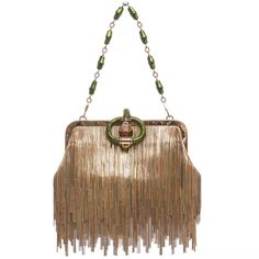 Tom Ford For Gucci Dragon Chain Fringe Evening Bag, Spring - Summer 2004 | From a collection of rare vintage evening bags and minaudières at https://www.1stdibs.com/fashion/handbags-purses-bags/evening-bags-minaudieres/