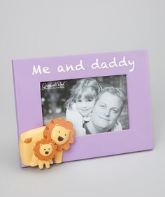 Take a look at this Grasslands Road Purple 'Me and Daddy' Frame on zulily today!