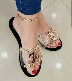 31 Rhinestones Flat Mule Shoes For College - Women Shoes Styles & Design Chanel Sandals, Chanel Shoes, Shoes For College, Mules Shoes Flat, Flat Sandals, Shoe Boots, Ankle Boots, Hot Shoes, Women's Shoes