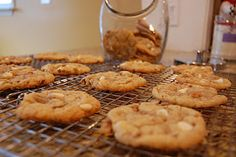 Toffee and White Chocolate Chip Cookies