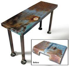 Recycled Metal Furniture from Scrap Car Hoods | Designs & Ideas on Dornob - via http://bit.ly/epinner