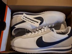 premium selection 084af 22798 MEN S NIKE CORTEZ BASIC NYLON WHITE NEUTRAL INDIGO SIZE 9.5 US 819720-102   Nike  WalkingShoes