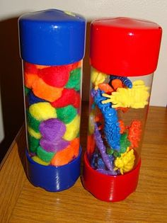 "You can find these containers in the ""Screw Isle"" at Home Depot. Great for storage or creating a fine motor activity! Can somebody say sensory bottles! Motor Activities, Sensory Activities, Preschool Activities, Sensory Play, Sensory Bins, Teach Preschool, Baby Sensory, Infant Activities, Educational Activities"