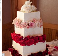 Square wedding cake from The Knot