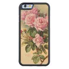 Roses and Bumblebees Paul de Longpre Fine Art Maple iPhone 6 Bumper