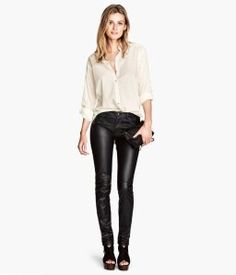 Imitation Leather Pants #H&M