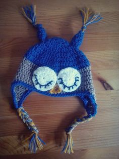 Handmade crochet hat for a little boy..