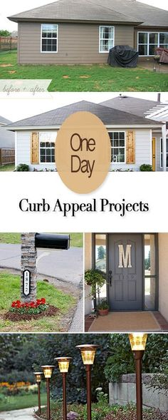 One Day Curb Appeal Projects • Easy DIY project you can do in just one day to improve your curb appeal and the value of your home! *ESP MAILBOX, PAVERS, SHUTTES!*****