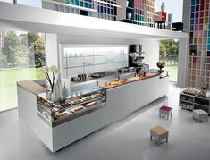 GARAGE - Vitrine réfrigérée comptoir by frigomeccanica Cafe Interior Design, Cafe Design, Amritsar, Bar Furniture, Furniture Design, Cafe Counter, Counter Display, Italian Bar, Cafe Bistro