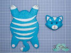 Resultado de imagem para gatos em tecido e feltro