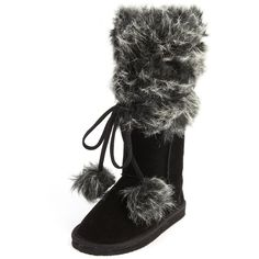 Wrapped Fur-Cuff Sueded Boot