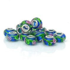 30Pcs 6X3mm Carve Fleur Retro Tibetan Silver Spacer Beads Jewelry Finding Craft