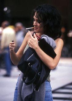 """Dailyactress: """"Winona Ryder podczas kręcenia Celebrity, 1997"""""""