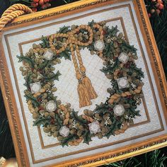 Rare vintage kit in excellent condition for the experienced cross stitch enthusiast brought to you by KindredClassics on Etsy Beaded Ornaments, Rose Design, Christmas Wreaths, Cross Stitch, Handmade Items, Tapestry, Kit, Etsy, Vintage
