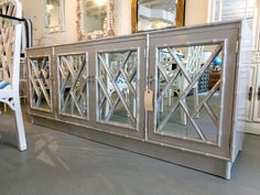 FAUX BAMBOO Chippendale Credenza in Silver Fox for under the tele :)