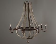 chandeliers for country french kitchen | Wine Barrel Chandeliers – French Country Antiques Lighting
