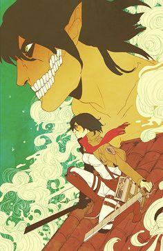 Tags: Anime, Shingeki no Kyojin, Deviant-021, Mikasa Ackerman, Eren Jaeger