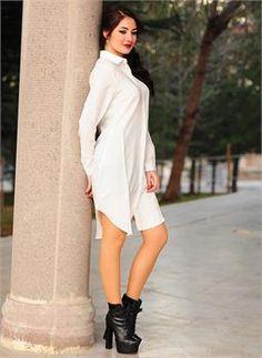 Bayan Elbise 2555 Beyaz