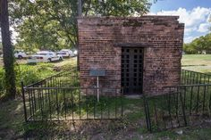 Bonnie Parker was incarcerated here in Kemp, TX in  1932.  It was after the first time she accompanied Clyde Barrow in a crime - an attempt to rob a local hardware store of guns.  They found themselves in a shoot-out from which only Clyde escaped. Captured by local police, Bonnie was locked up in the jail overnight. The next morning, citizens of the town peered into the jail to get a look at the pretty bandit.  Eyewitnesses recall Bonnie hissing at their prying eyes.