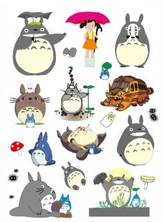 Waterproof A4 Sticker Sheet for Decoration (Totoro Style) - Eleturtle