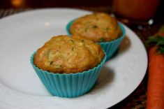 Muffin Recipes | Zucchini Muffins with Carrot and Banana, Healthy and Lowfat. Great for Kids.