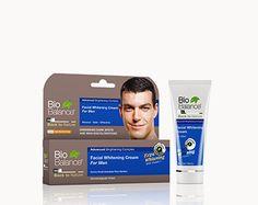 FACIAL CREAM WHITENING  FOR MEN làm giảm đốm đen  và nhạt DA BioBalance Whitening Cream được đặc chế để làm sáng da tổng thể và giảm sự xuất hiện của các đốm đồi mồi, tàn nhang, đốm nắng, nám, mụn, nhạt da và các vết bớt.  An toàn với mặt trời.