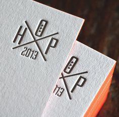 carte visite letterpress by House of Press