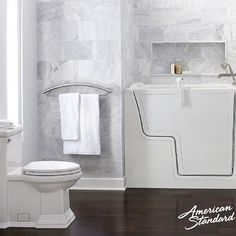 American Standard is there for you with all challenges you may face, comfort height Toilets, walk in bathtubs, Grab bars that look like towel bars, Come see the Plomberium team as we understand challenges And find solutions,,,,, #seniorsliving