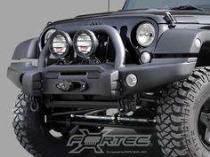 AEV Premium Front Bumper in Textured Black for 07-up Jeep® Wrangler & Wrangler Unlimited JK