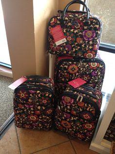 Vera Bradley luggage set!!!!! Yes please! At Tuscan Sun Spa!!