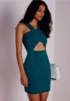 Nice teal bodycon dress 2017-2018 Check more at http://newclotheshop.com/dresses-review/teal-bodycon-dress-2017-2018/