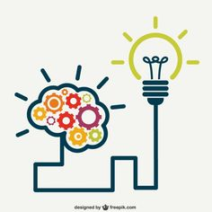 creative brain and lamp wiring design vector, Thinking, Brain, Connection, Background image Illustration Plate, Brain Logo, My Design, Logo Design, Design Plano, Business Intelligence, Grafik Design, Clipart, Innovation