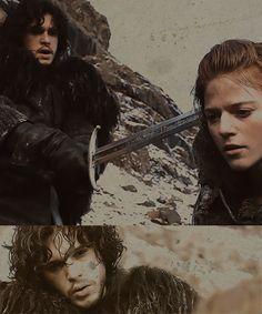 Jon  Snow & Ygritte - game-of-thrones Fan Art